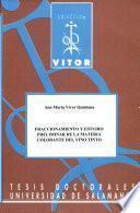 Fraccionamiento y estudio preliminar de la materia colorante del vino tinto
