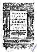 Libro Aureo de Marco Aurelio, Emperador eloquentisimo Orador