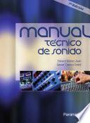 MANUAL TÉCNICO DE SONIDO. 7a ed.