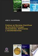 Publicar en Revistas Científicas de Corriente Principal